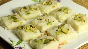 Milk (Khoya) Burfi
