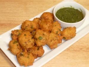 Moong Dal Vada (Bhajia-Pakoras-Fritters)