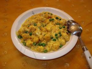 Butternut Squash Gnocchi in Coconut Curry Sauce