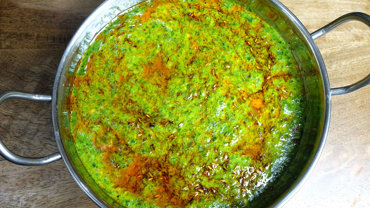 Palak (Spinach Curry)