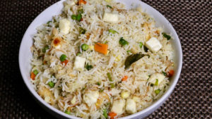 Paneer Pulao, Vegetable Pulav,  Rice with Indian Cottage Cheese Pulao
