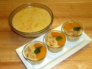 Peach Phirni (Rice Pudding)