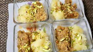 Pineapple Sheera (Sooji ka Halwa) Recipe by Manjula