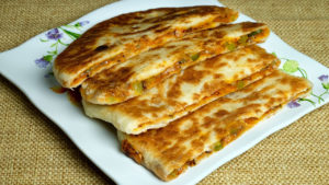 Pizza Paratha (Stuffed Vegetable Cheese Paratha)