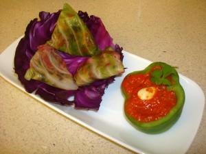 Salad Stuffed Cabbage Samosas