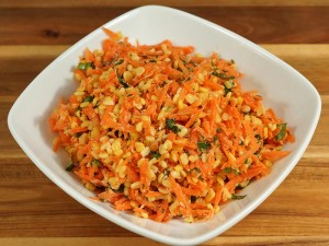 Carrot and Moong Dal Salad