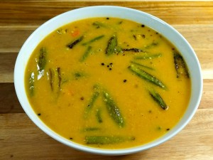 Sindhi Kadhi (Vegetable in Gram Flour Gravy)