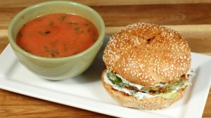 Spicy Chickpea Patty Sandwich