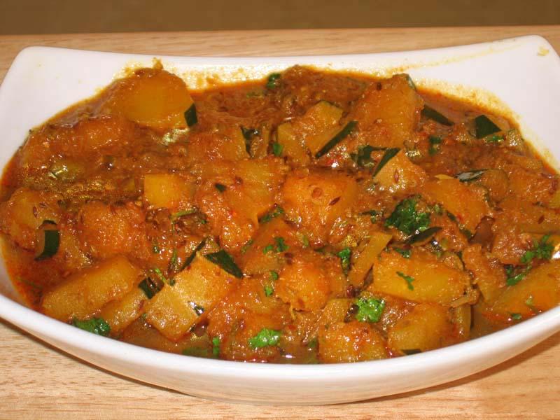 Spicy Squash - Kaddu Ki Subji