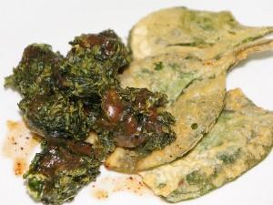 Spinach (Palak) Chaat