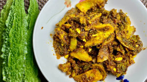 Sweet and Sour Spicy Karela (Bitter Melon) Recipe by Manula