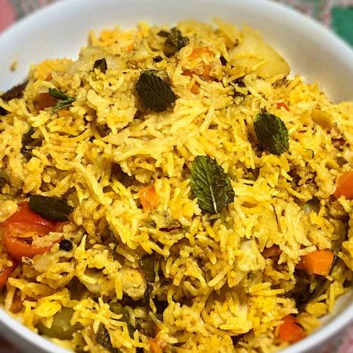Vegetable Biryani (Instant Pot) Recipe by Manjula