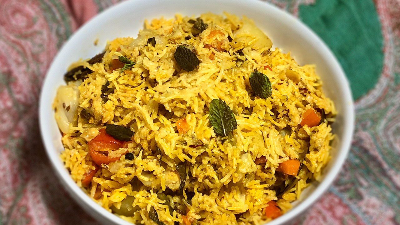 Vegetable Biryani Instant Pot Manjula S Kitchen Indian Vegetarian Recipes