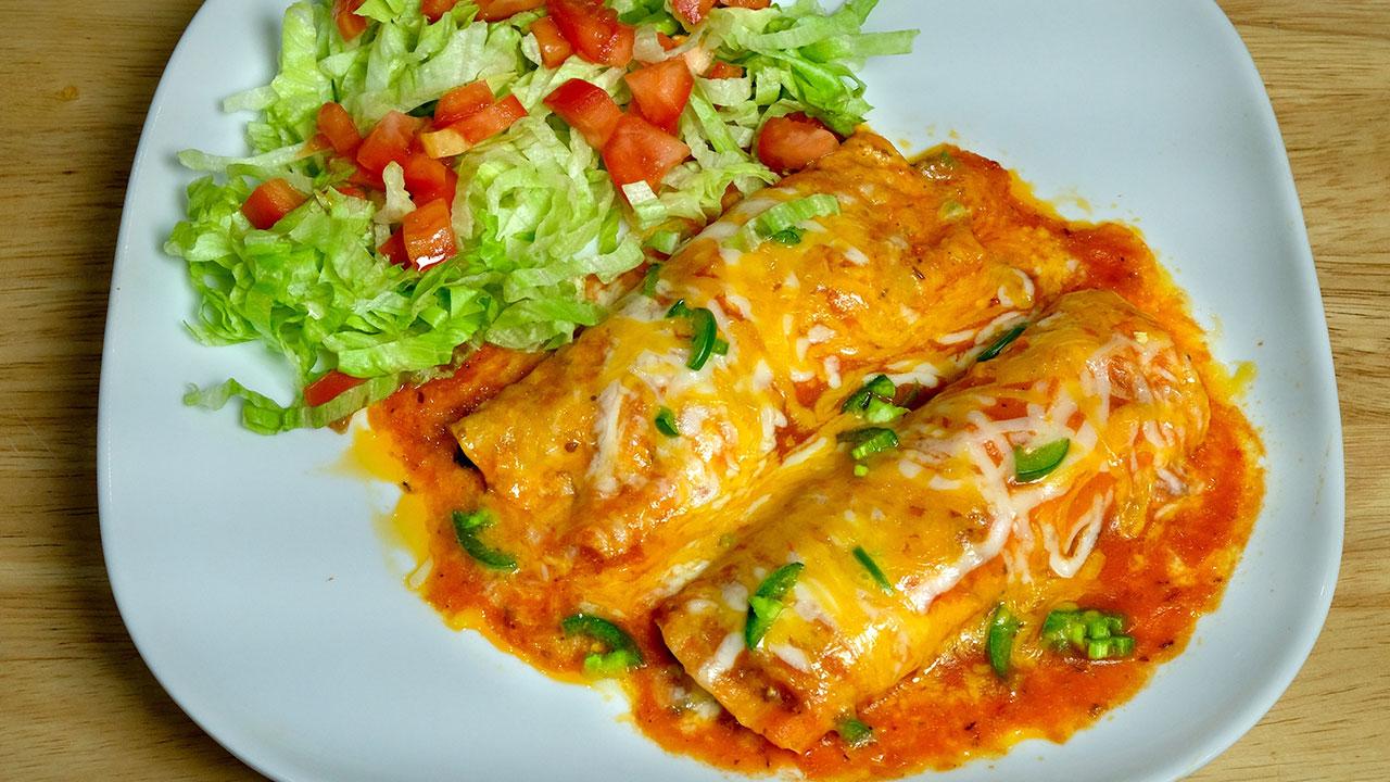 Vegetarian Enchiladas Manjula S Kitchen Indian Vegetarian Recipes