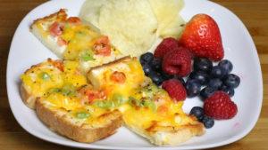 Veggie Cheese Toast